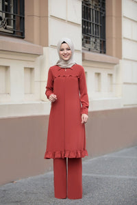 Terracotta Long Modest Tunic - Buy Abaya Online