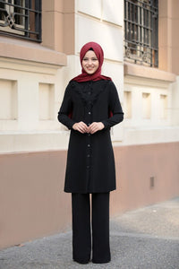 Black Long Modest Tunic - Buy Abaya Online