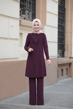 Load image into Gallery viewer, Purple Long Modest Tunic - Buy Abaya Online