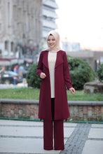 Load image into Gallery viewer, 3 Piece Suit Set - Jacket, Tunic & Trouser Set (Bordeaux Red)