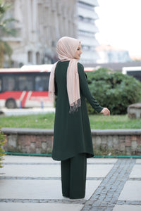 3 Piece Suit Set - Jacket, Tunic & Trouser Set (Pine Green)