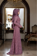 Load image into Gallery viewer, Beyza Powder Pink Evening Dress With Matching Scarf - Buy Abaya Online