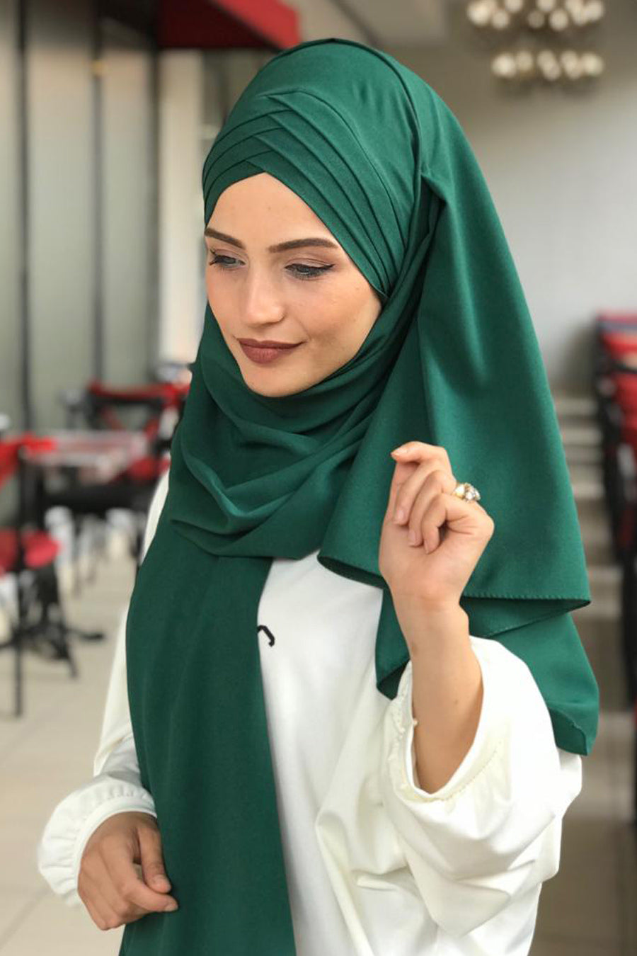 Instant Emerald Green Hijab - Buy Abaya Online