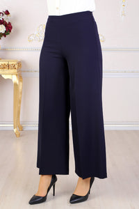 Navy Blue Wide Leg Trousers - Buy Abaya Online