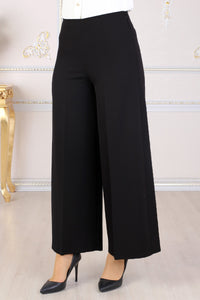 Black Wide Leg Trousers - Buy Abaya Online