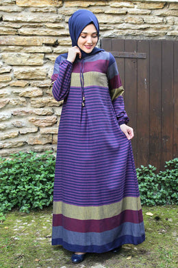 Purple Striped Dress - Buy Abaya Online