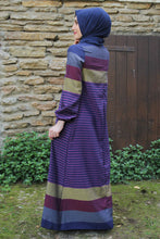Load image into Gallery viewer, Purple Striped Dress - Buy Abaya Online