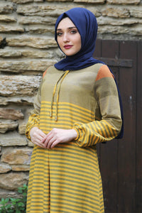 Yellow Striped Dress - Buy Abaya Online