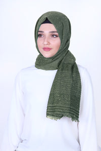 Khaki Patterned, Sparkly Shawl - Buy Abaya Online