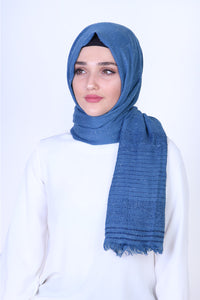 Royal Blue Patterned Sparkly Shawl - Buy Abaya Online