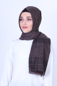 Purple Patterned Sparkly Shawl - Buy Abaya Online