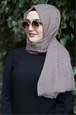 Lilac Patterned Shawl - Buy Abaya Online