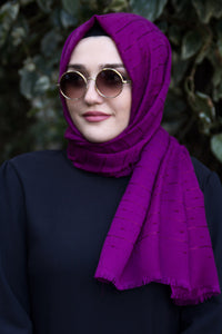 Purple Patterned Shawl - Buy Abaya Online