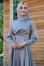 Load image into Gallery viewer, Grey Evening Dress - Buy Abaya Online