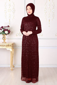 Burgundy Red Evening Dress - Buy Abaya Online