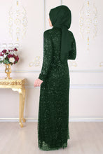 Load image into Gallery viewer, Green Evening Dress - Buy Abaya Online
