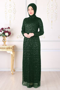 Green Evening Dress - Buy Abaya Online