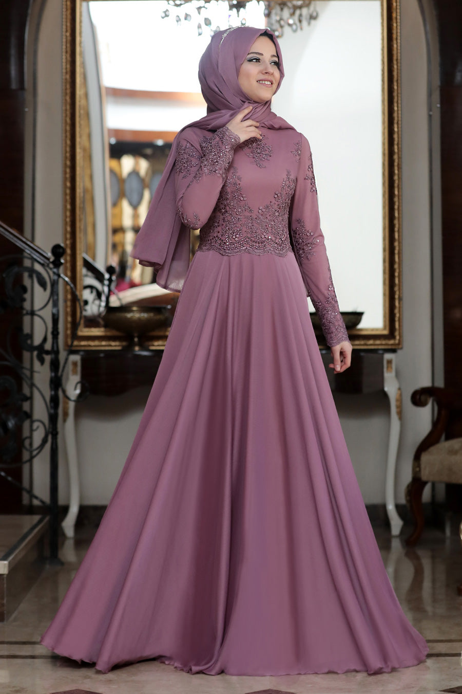 Sky Magenta Evening Dress - Buy Abaya Online