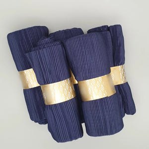 Navy Blue Crinkle Pleated Hijab
