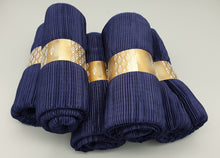 Load image into Gallery viewer, Navy Blue Crinkle Pleated Hijab