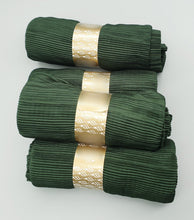 Load image into Gallery viewer, Crinkle Pleated Forest Green Hijab. Hijab Online