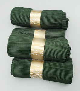 Crinkle Pleated Forest Green Hijab. Hijab Online