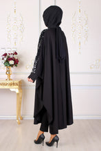 Load image into Gallery viewer, Sequin Detailed Black Abaya - Buy Abaya Online