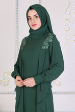 Load image into Gallery viewer, Emerald Green Abaya - Buy Abaya Online