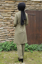 Load image into Gallery viewer, Khaki Modest Tunic And Trouser Set - Buy Abaya Online