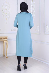 Mint Green Tunic with Drawstring - Buy Abaya Online