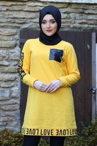 Yellow Love Sweater - Buy Abaya Online