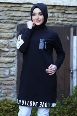 Black Love Sweater - Buy Abaya Online