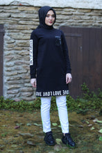 Load image into Gallery viewer, Black Love Sweater - Buy Abaya Online