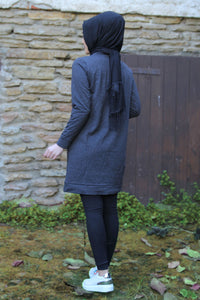 Dark Grey Love Sweater - Buy Abaya Online