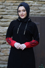 Load image into Gallery viewer, Black Fashion Hoodie - Buy Abaya Online
