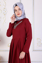 Load image into Gallery viewer, Red Maxi Abaya PS - Buy Abaya Online