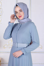 Load image into Gallery viewer, Powder Blue Abaya With Belt - Buy Abaya Online