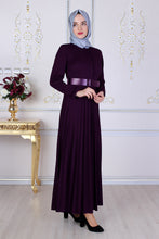 Load image into Gallery viewer, Purple Abaya With Belt - Buy Abaya Online