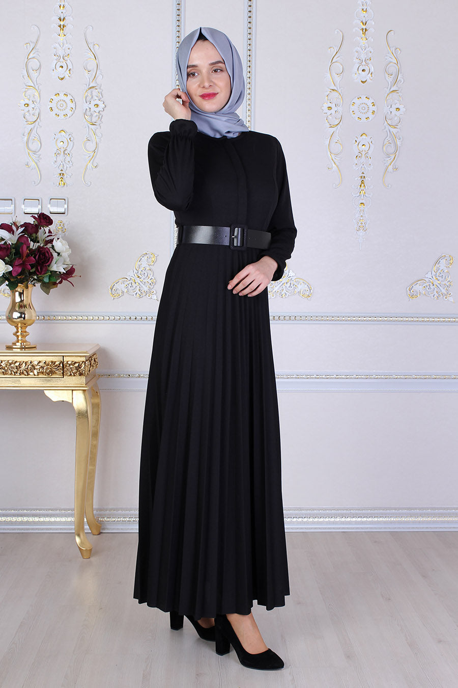 Black Abaya With Belt - Buy Abaya Online