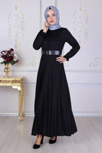 Load image into Gallery viewer, Black Abaya With Belt - Buy Abaya Online