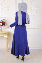 Load image into Gallery viewer, Royal Blue Silvery Abaya - Buy Abaya Online