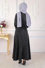 Load image into Gallery viewer, Black Sparkly Silver Abaya - Buy Abaya Online