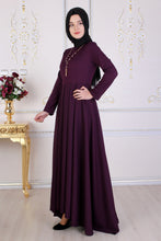 Load image into Gallery viewer, Purple Maxi Abaya - Buy Abaya Online
