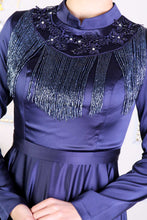 Load image into Gallery viewer, Bead Detail Navy Blue Evening Dress - Buy Abaya Online