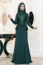 Load image into Gallery viewer, Emerald Green Evening Dress - Buy Abaya Online
