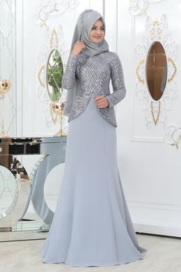 Light Grey Evening Dress - Buy Abaya Online