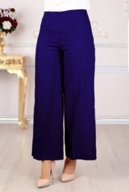 Midnight Blue Wide Leg Trousers - Buy Abaya Online
