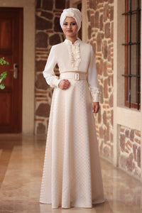 Fuchia Blouse And Ecru Skirt - Buy Abaya Online