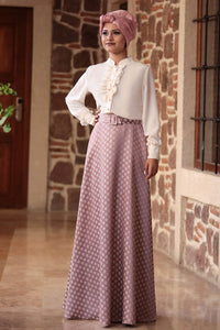 Fuchia Blouse And Pink Rose Colour Skirt - Buy Abaya Online