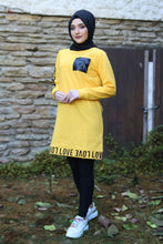 Load image into Gallery viewer, Yellow Love Sweater - Buy Abaya Online